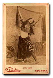 "American 1890's belly-dancer ""Little Egypt"""