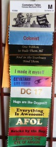 Two Days Worth of Badge Ribbons
