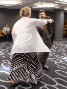 Our Dance Master takes a turn at the waltz.