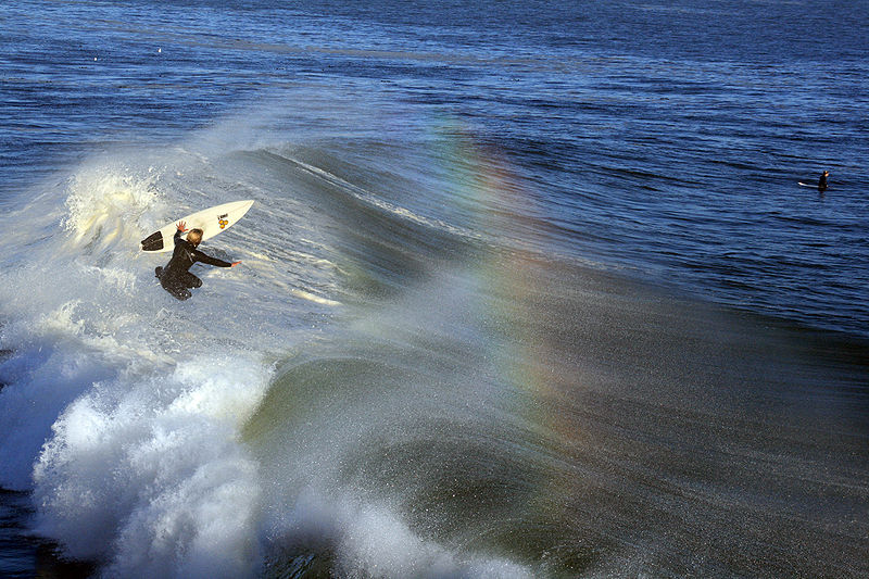 Surfer in Santa Cruz